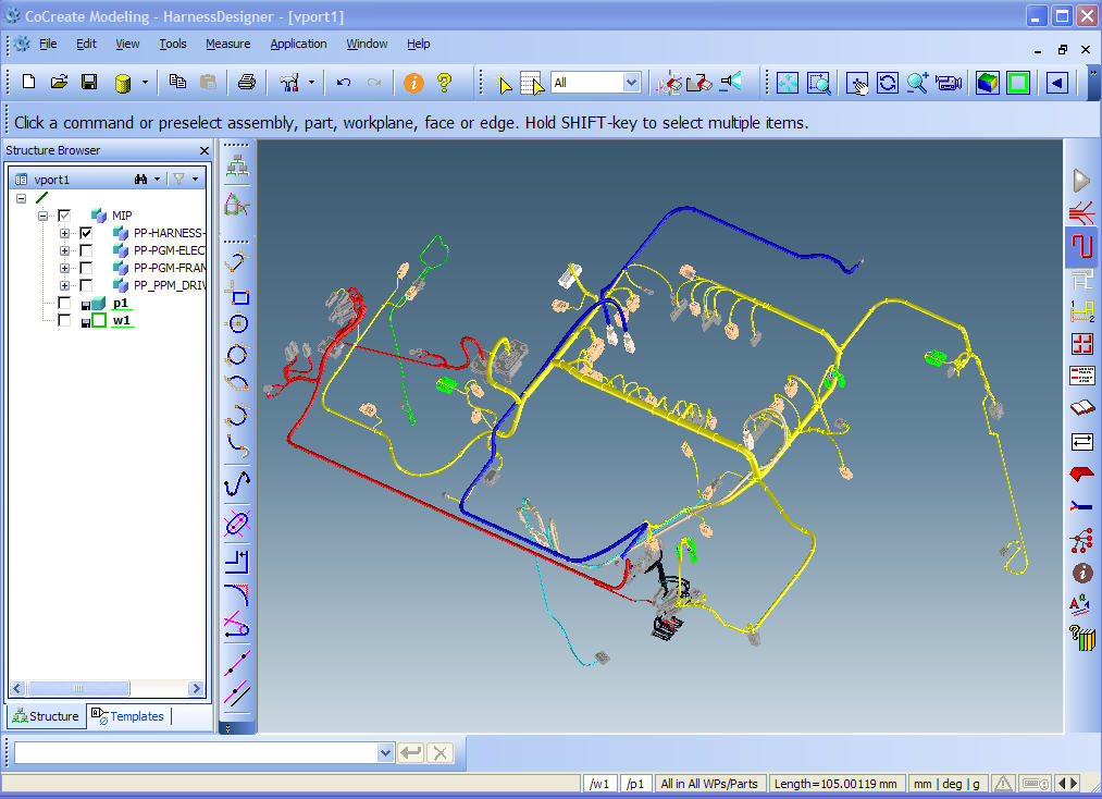 spacecable ptc creo elements direct cocreate modeling cabling and harness